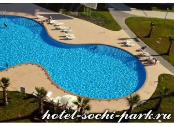 Бассейны и пляж | Отель Сочи Парк 3*